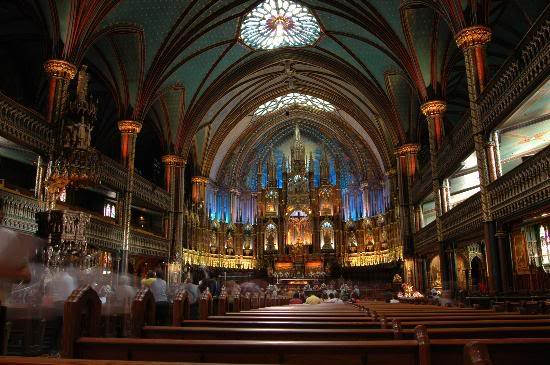 Красивые фото  Монреаля и Квебека Notre-dame-basilica-basilique