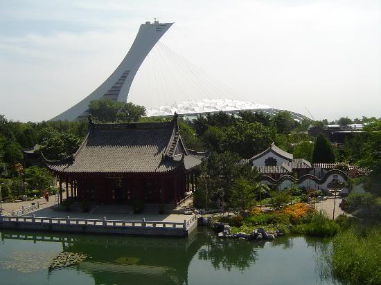 Красивые фото  Монреаля и Квебека Olympic-stadium-view