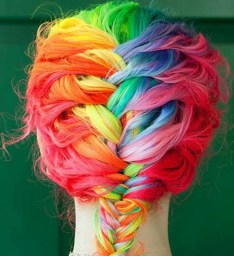 Vatromet boja u fotografiji Rainbowbraid
