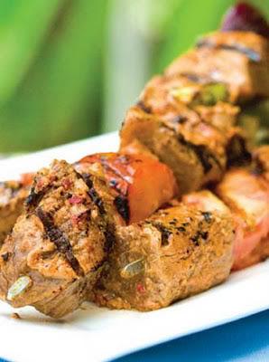 Tikka Kebab thịt cừu với sốt Raita Lamb2BTikka2BKebabs