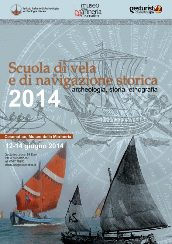 Cesenatico - škola jedrenja i tradicionalne navigacije Scuolavelastorica_locandina_2014_zps602f7591