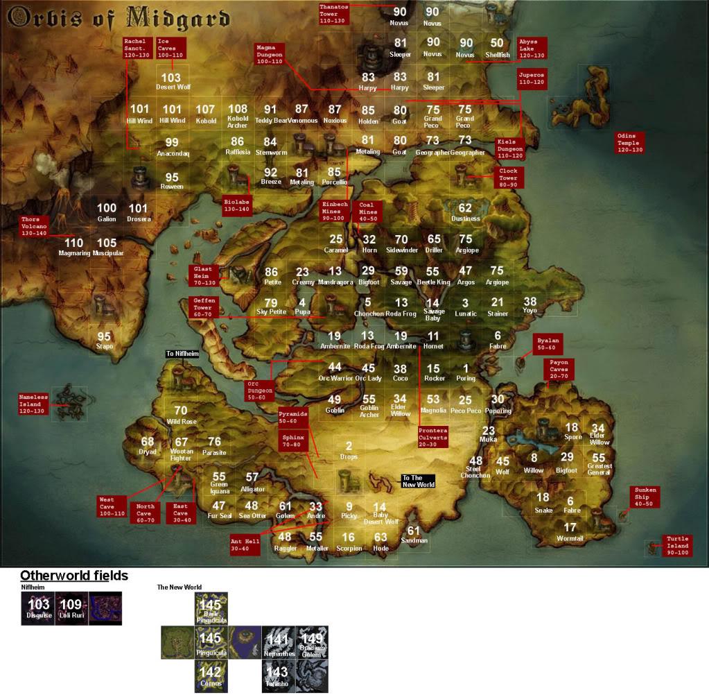 Cambios del Ragnarok Renewal Worldmap