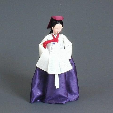 Geleneksel Kıyafetlerle Kore Oyuncak Bebekleri 1-5