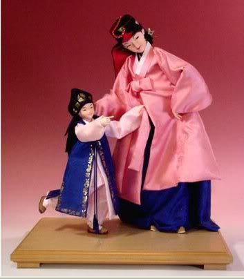 Geleneksel Kıyafetlerle Kore Oyuncak Bebekleri 11-2