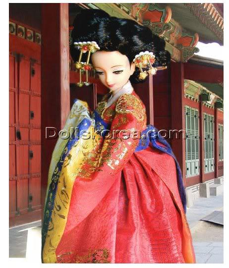 Geleneksel Kıyafetlerle Kore Oyuncak Bebekleri 14-3