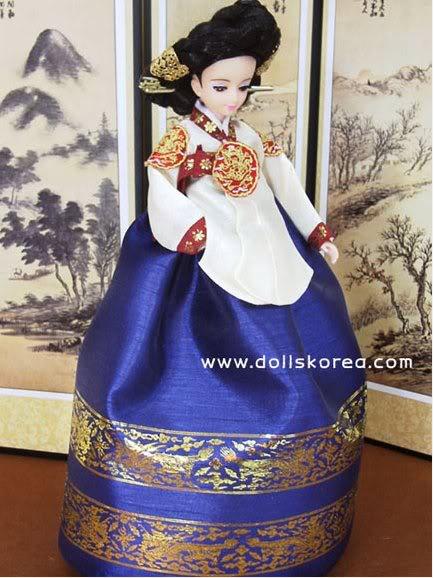 Geleneksel Kıyafetlerle Kore Oyuncak Bebekleri 2-5