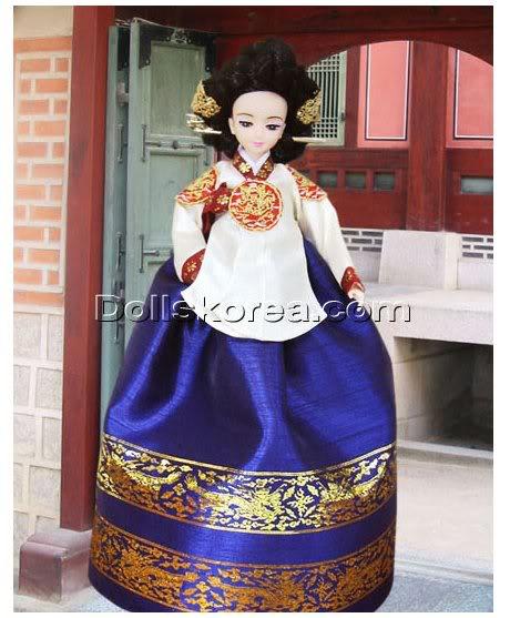 Geleneksel Kıyafetlerle Kore Oyuncak Bebekleri 22-2