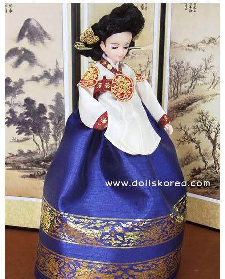 Geleneksel Kıyafetlerle Kore Oyuncak Bebekleri 24-2