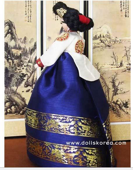 Geleneksel Kıyafetlerle Kore Oyuncak Bebekleri 25-2