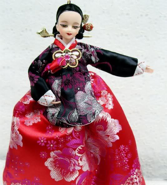 Geleneksel Kıyafetlerle Kore Oyuncak Bebekleri 3-6