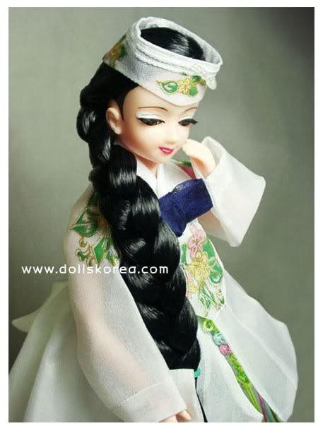 Geleneksel Kıyafetlerle Kore Oyuncak Bebekleri 34-2