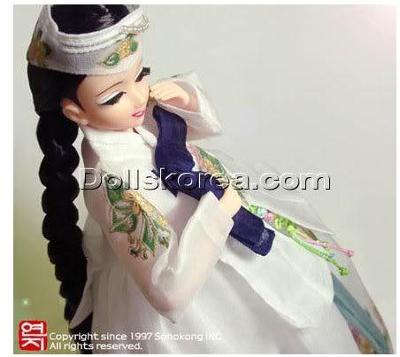Geleneksel Kıyafetlerle Kore Oyuncak Bebekleri 35-2