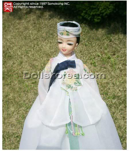 Geleneksel Kıyafetlerle Kore Oyuncak Bebekleri 36-1