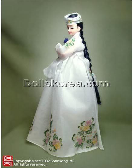 Geleneksel Kıyafetlerle Kore Oyuncak Bebekleri 37-1
