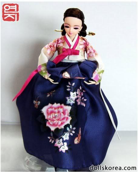 Geleneksel Kıyafetlerle Kore Oyuncak Bebekleri 43-2