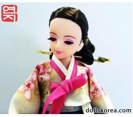 Geleneksel Kıyafetlerle Kore Oyuncak Bebekleri 45-2