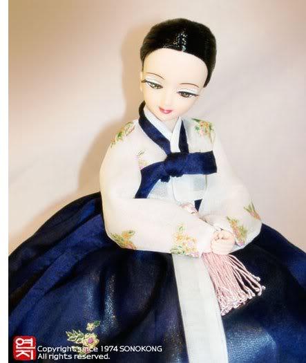 Geleneksel Kıyafetlerle Kore Oyuncak Bebekleri 46-1