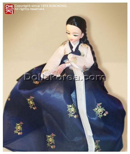 Geleneksel Kıyafetlerle Kore Oyuncak Bebekleri 48-1