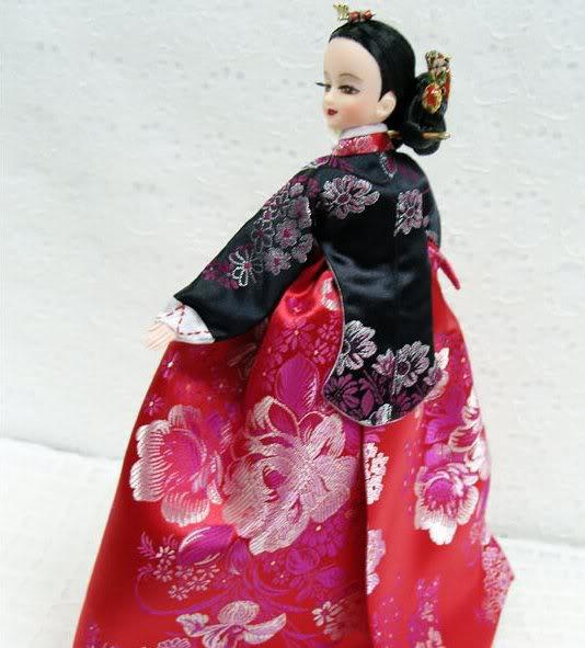 Geleneksel Kıyafetlerle Kore Oyuncak Bebekleri 5-4