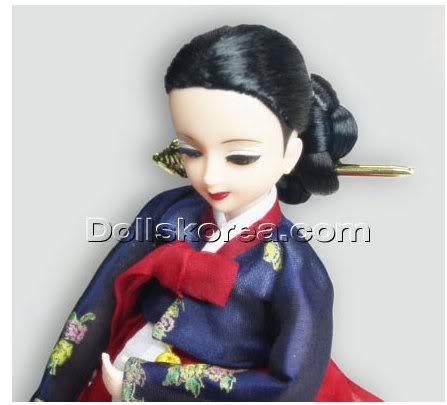 Geleneksel Kıyafetlerle Kore Oyuncak Bebekleri 51-1