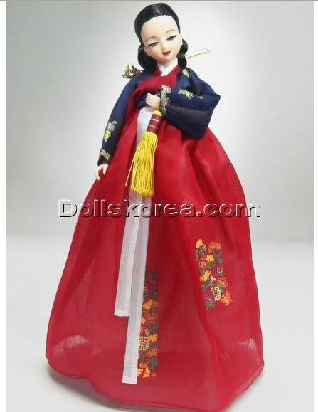 Geleneksel Kıyafetlerle Kore Oyuncak Bebekleri 53-2
