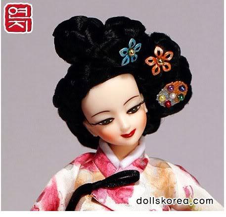 Geleneksel Kıyafetlerle Kore Oyuncak Bebekleri 6-4