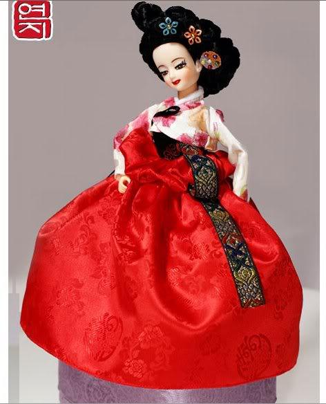 Geleneksel Kıyafetlerle Kore Oyuncak Bebekleri 9-2