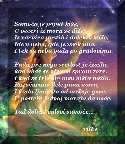 Poezija u slici Samoca-je-poput-kise