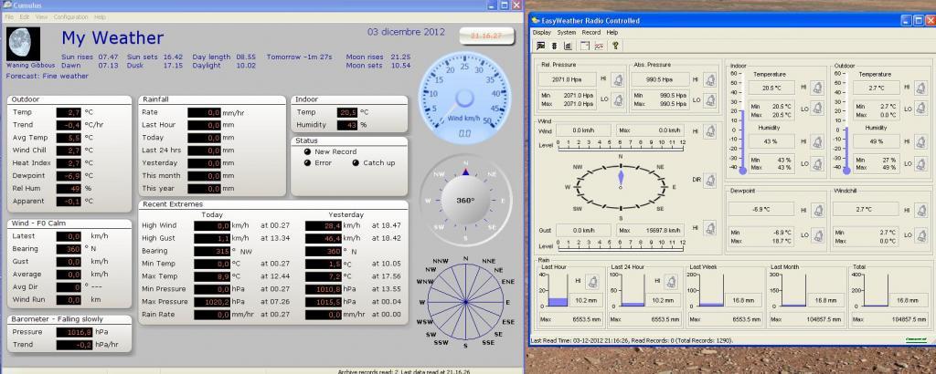 cumulus - Cumulus, Easy weather e base stazione dati diversi Immagine3