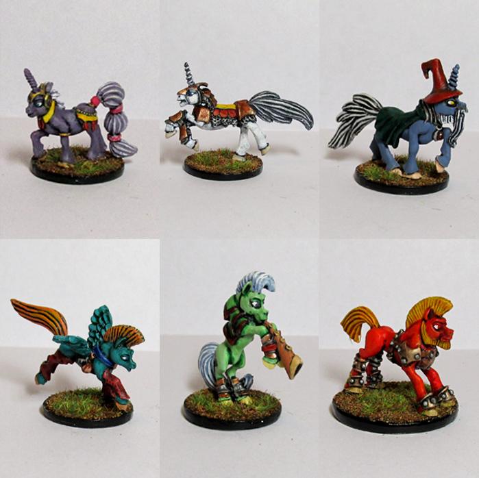 Pewter Ponies, little gaming sculptures on Kickstarter AdventurersGroup2_zps2989c93d