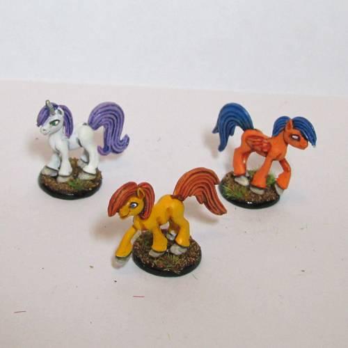 Pewter Ponies, little gaming sculptures on Kickstarter TrioofTerrorGroup1_zps68a1e174