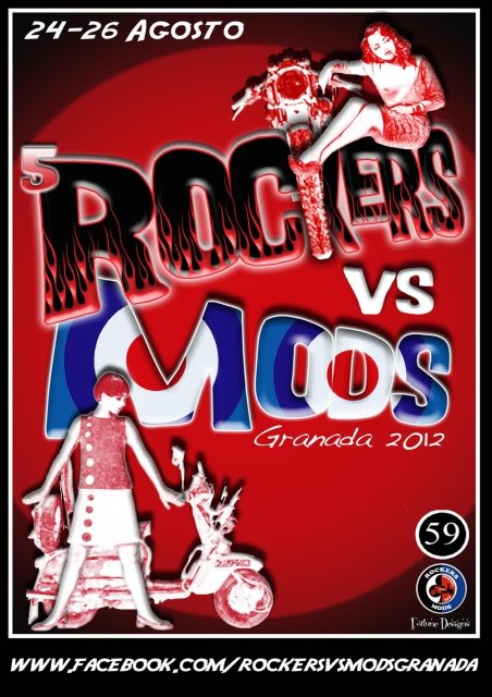 V ROCKERS VS MODS GRANADA RVM2012blackflyer