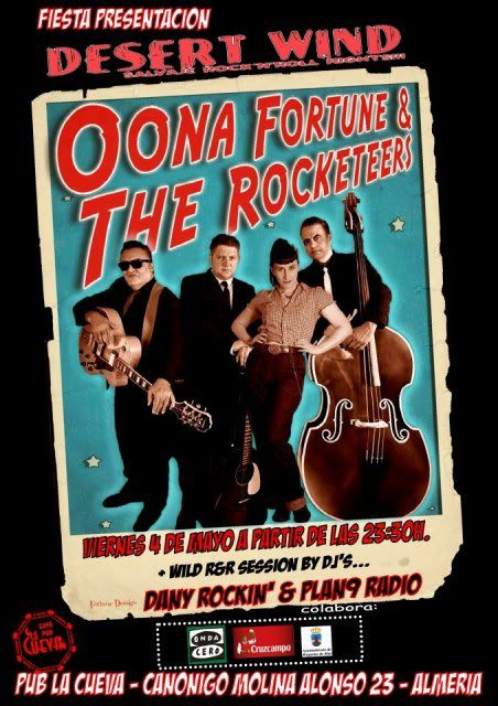 FIESTA PRESENTACION DESERT WIND. OONA FORTUNE AND THE ROCKETEERS. 4 DE MAYO DE 2012 ALMERIA Almeria4demayo