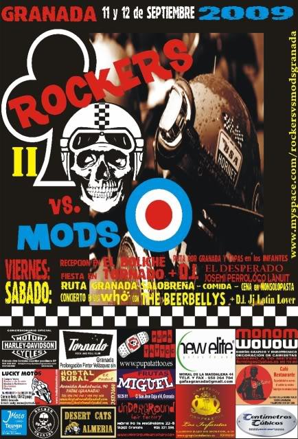 11 y 12 de Septiembre: II ROCKERS VS MODS GRANADA Rockersvsmods-2-cartel