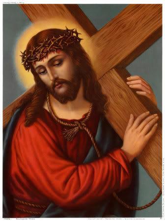 صور متنوعة للسيد المسيح Kreuztragender-Christus-Print-C1028