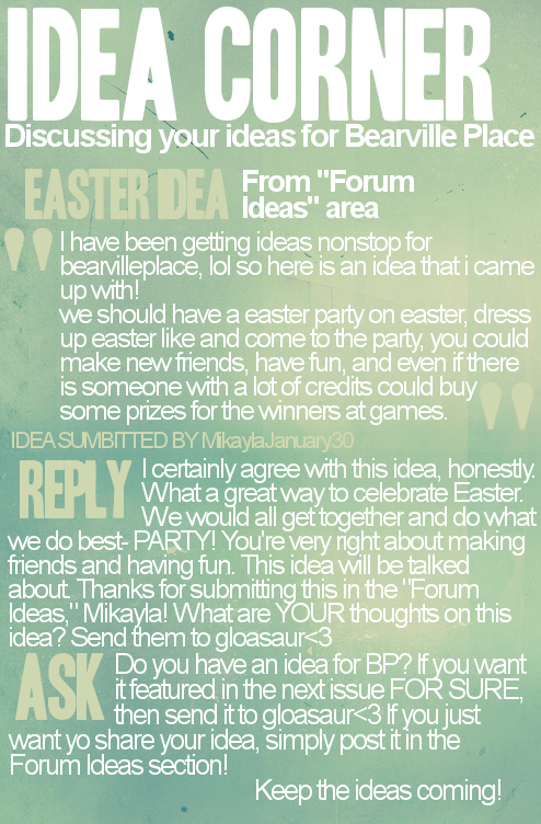 Bearville Place Newspaper // Issue 2 Ideas-2