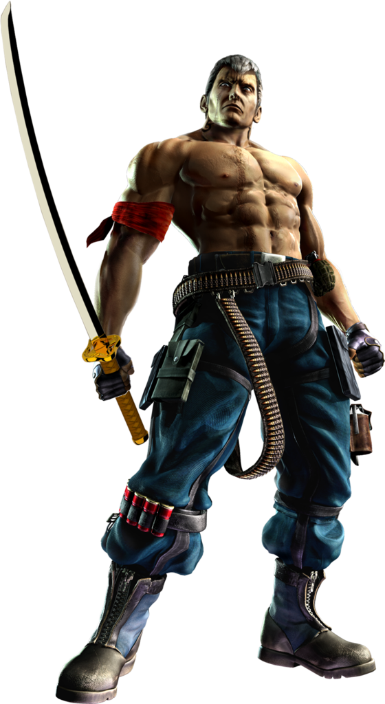 Tekken 6 Sword men's renders Bryan