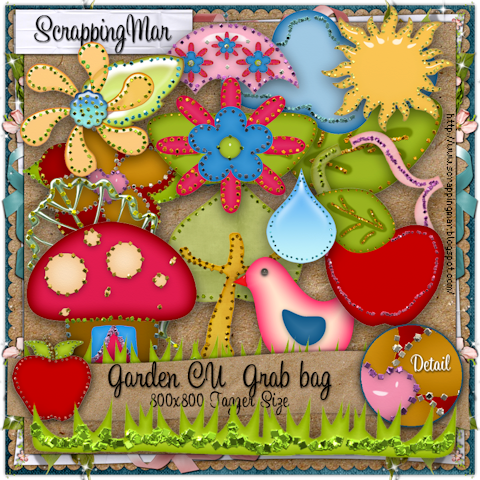 Garden Grab Bag GradenCUGBScrappingMar