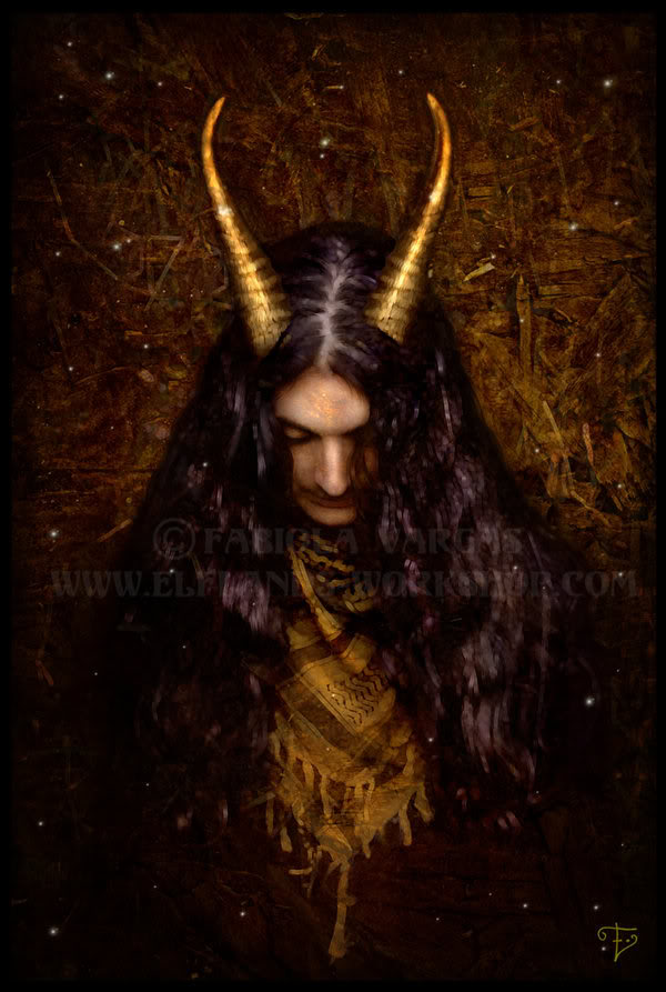 LUCIFER... god of Hell Gwyn_ap_Nydd_by_Taurina
