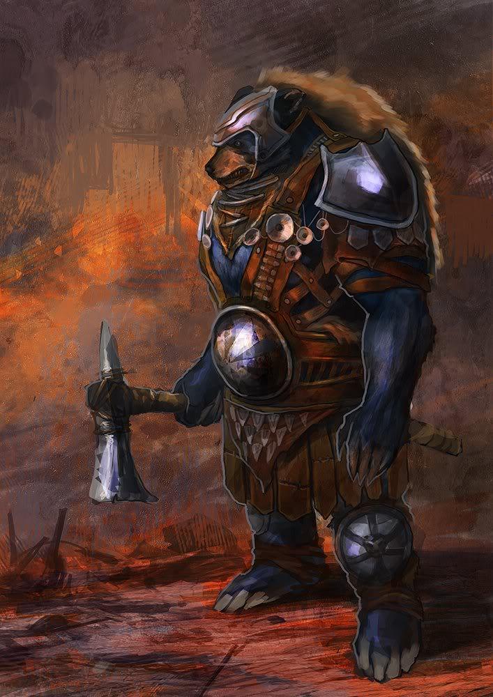 muchas IMAGENES QUE PUEDEN USAR PARA EL rpg. Bear-warrior