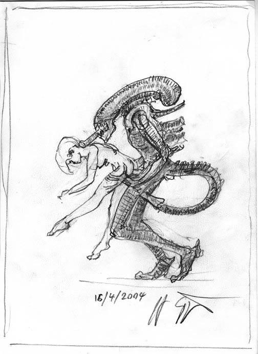 8 ième passager, scène ou le Alien tue Parker et Lambert