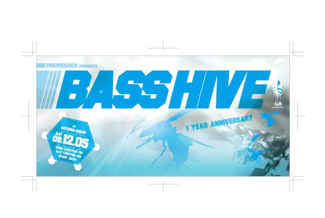 05/12/09 : BASSHIVE @HACHI CLUB : tokyo (JP) BASSHIVE091205Front