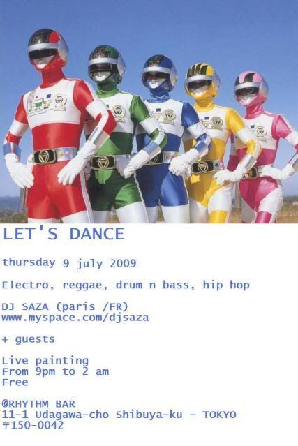 2009/07/09 : LET'S DANCE @RHYTHM BAR (shibuya) LETSDANCE