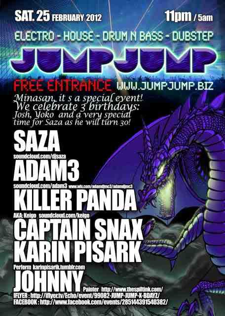 25/02/12 : JUMP JUMP X SAZA s BDAY @ECCOS @tokyo JP Jumpjumpp