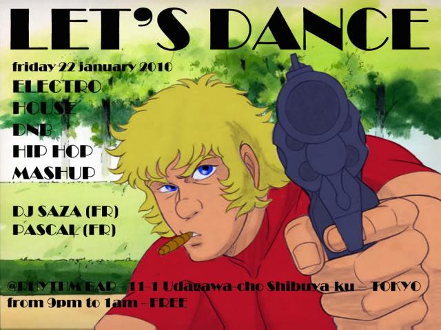 22/01/10 : LET'S DANCE @RHYTHM BAR (tokyo) Letsdancejanv