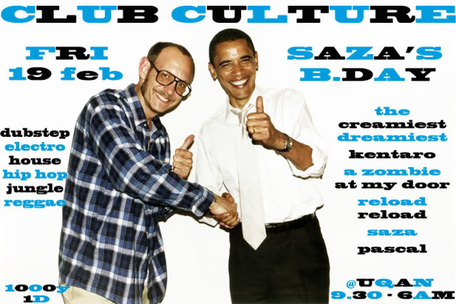 19/02/2010 : CLUB CULTURE @UQAN (tokyo) Sazabday