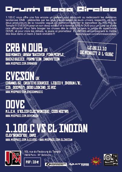 26/11/2010 : Drum n Bass Circlez :ERB N DUB + EVESON@la java Versoweb-7