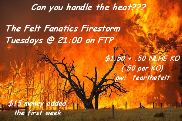 New tournament on Tues @ FTP! FFFirestrm