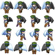 PerfectZero's Sprites.(Drunken Hobo Sprite! With awesome Comic!) WingedThief1