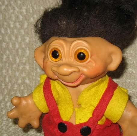 Trolls et animaux trolls de Dam Thomas (créateur) 1960